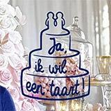 Ja, ik wil ... een taart